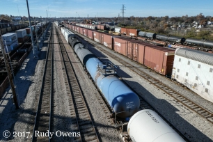 Rail corridor separating St. Louis and St. Louis County