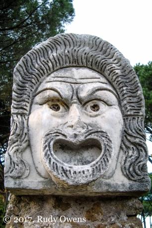 Mask face, Ostia Antica.