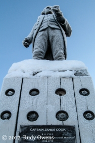Captain Cook Statue, downtown Anchorage