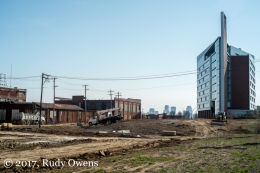 Looking to downtown St. Louis and the Edward A. Doisy Research Center, off Grand Avenue.