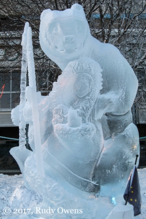 Ice Sculpture, downtown Anchorage
