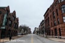 Locust Street, empty on a Sunday afternoon
