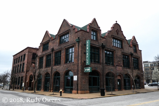 The Schlafly Tap Room occupies an old printing company building.