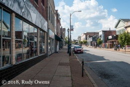 Cherokee Street in South St. Louis, a ghost town in the middle of a work day