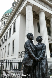 Dred Scott Statue and St Louis Old Courthouse April 2018